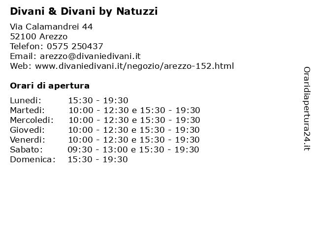 Divani E Divani Arezzo.ᐅ Orari Divani Divani By Natuzzi Via Calamandrei 44 52100 Arezzo