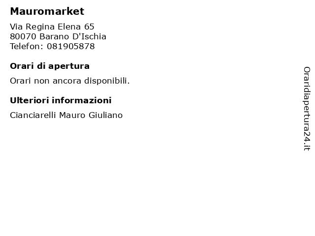 Mauromarket a Barano D'Ischia: indirizzo e orari di apertura