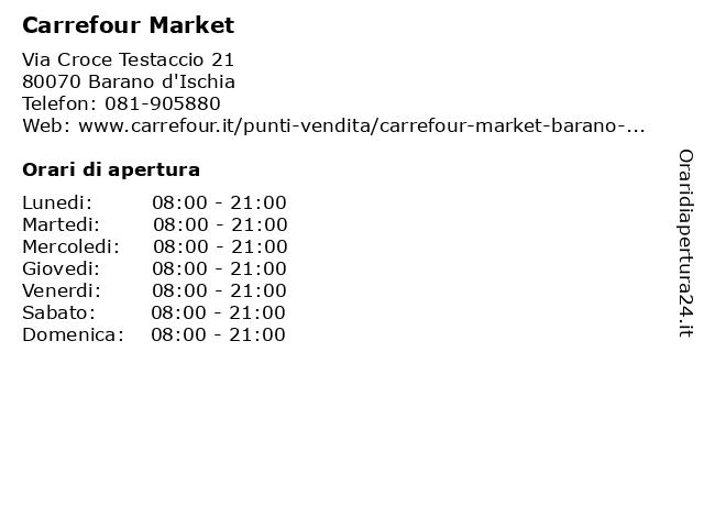 Carrefour Market a Barano d'Ischia: indirizzo e orari di apertura