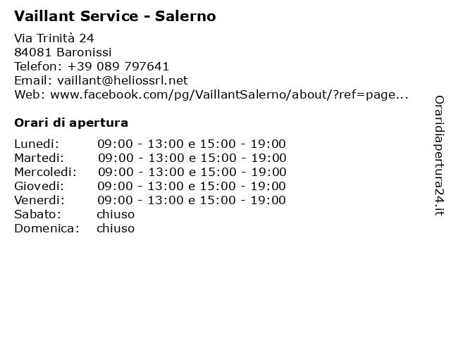 Vaillant Service - Salerno a Baronissi: indirizzo e orari di apertura