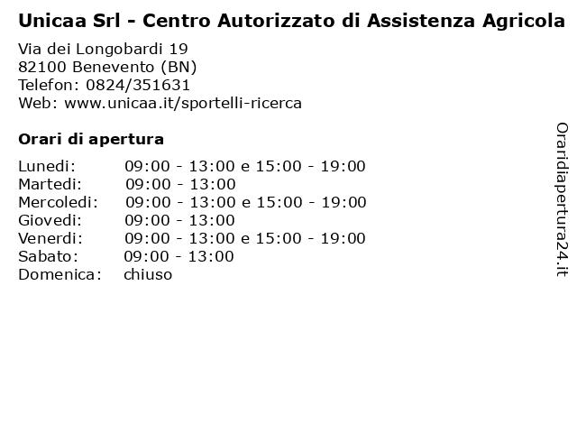 Unicaa Srl - Centro Autorizzato di Assistenza Agricola a Benevento (BN): indirizzo e orari di apertura
