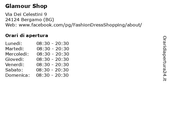 Glamour Shop a Bergamo (BG): indirizzo e orari di apertura