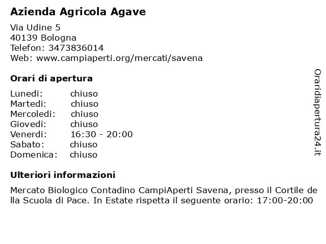 Azienda Agricola Agave a Bologna: indirizzo e orari di apertura