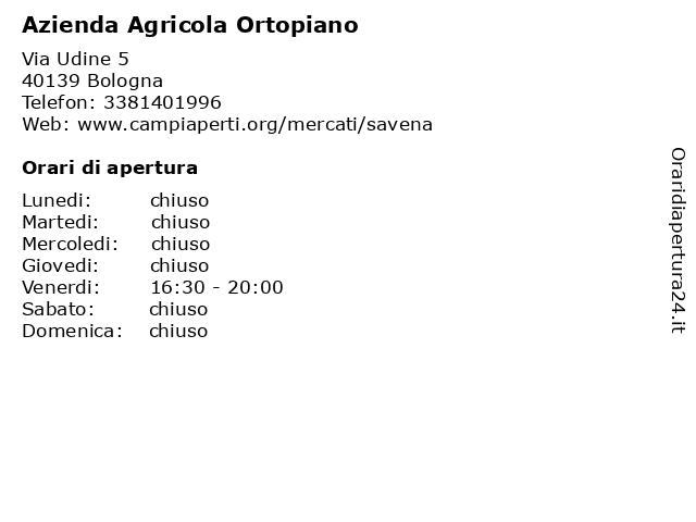 Azienda Agricola Ortopiano a Bologna: indirizzo e orari di apertura