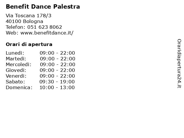 Benefit Dance Palestra a Bologna: indirizzo e orari di apertura