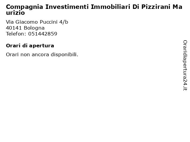 Compagnia Investimenti Immobiliari Di Pizzirani Maurizio a Bologna: indirizzo e orari di apertura