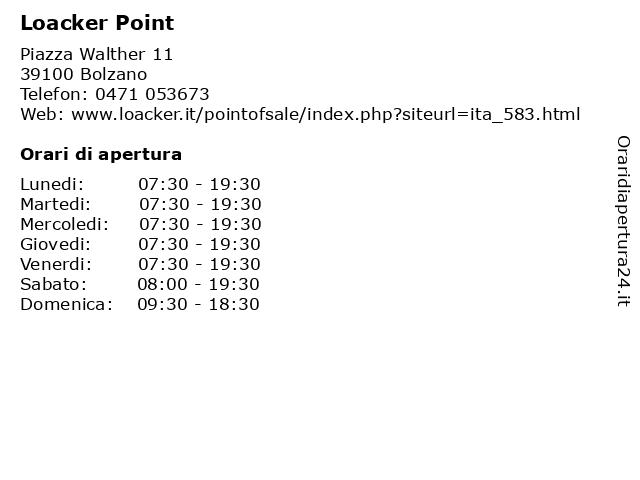 Loacker Point a Bolzano: indirizzo e orari di apertura