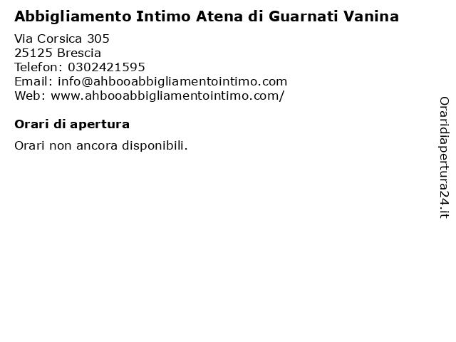 Abbigliamento Intimo Atena Di Guarnati Vanina a Brescia: indirizzo e orari di apertura