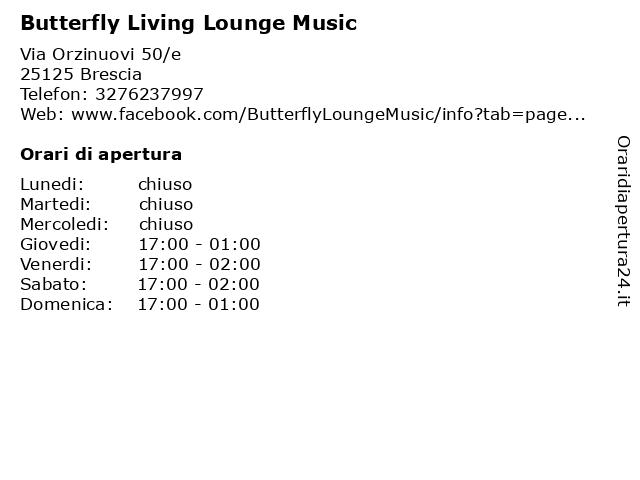 Butterfly Living Lounge Music a Brescia: indirizzo e orari di apertura