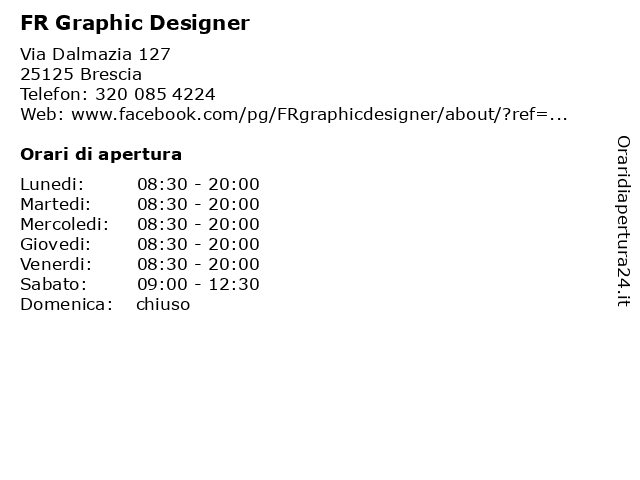 FR Graphic Designer a Brescia: indirizzo e orari di apertura