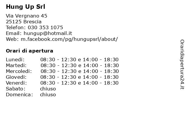 Hung Up Srl a Brescia: indirizzo e orari di apertura
