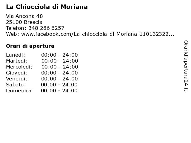 La Chiocciola di Moriana a Brescia: indirizzo e orari di apertura