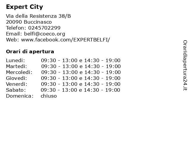 Expert City a Buccinasco: indirizzo e orari di apertura