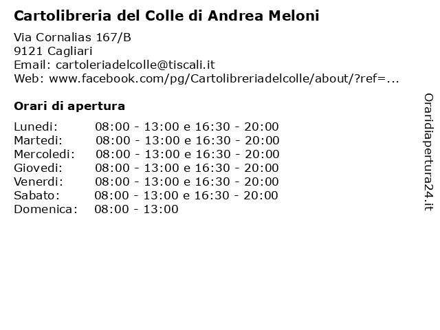 Cartolibreria del Colle di Andrea Meloni a Cagliari: indirizzo e orari di apertura