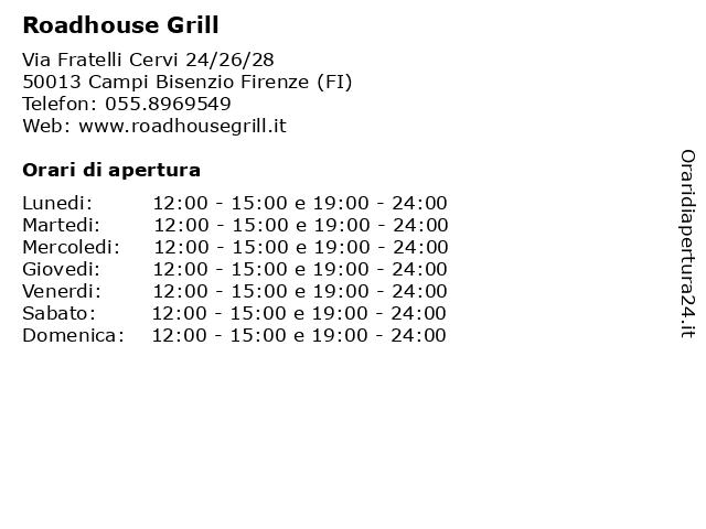 Roadhouse Grill a Campi Bisenzio Firenze (FI): indirizzo e orari di apertura