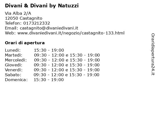 Divani E Divani Albenga.ᐅ Orari Divani Divani By Natuzzi Via Alba 2 A 12050 Castagnito
