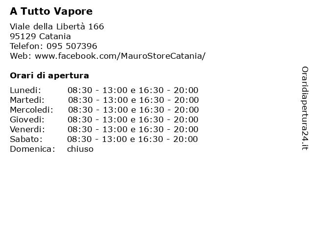 A Tutto Vapore a Catania: indirizzo e orari di apertura