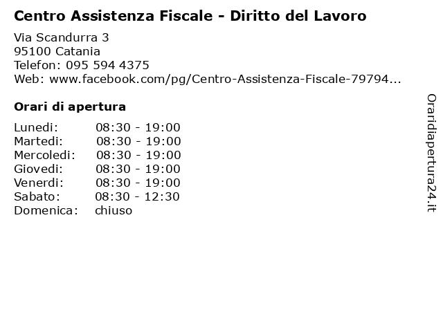 Centro Assistenza Fiscale - Diritto del Lavoro a Catania: indirizzo e orari di apertura
