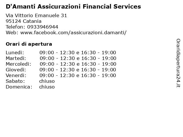 D'Amanti Assicurazioni Financial Services a Catania: indirizzo e orari di apertura