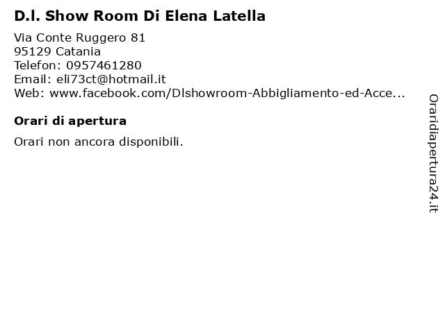 D.l. Show Room Di Elena Latella a Catania: indirizzo e orari di apertura