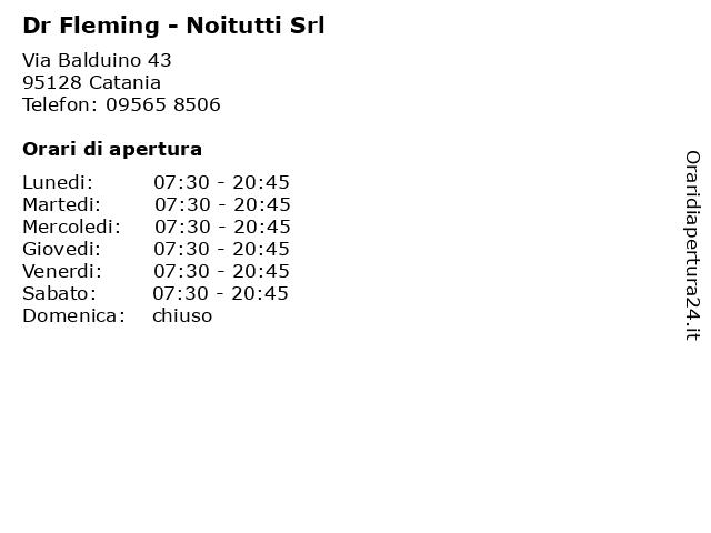 Dr Fleming - Noitutti Srl a Catania: indirizzo e orari di apertura