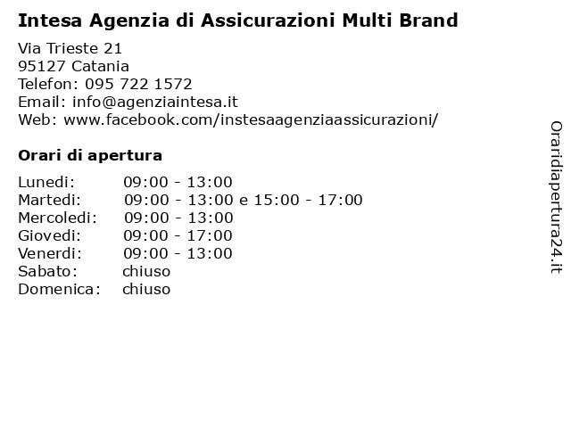 Intesa Agenzia di Assicurazioni Multi-brand a Catania: indirizzo e orari di apertura