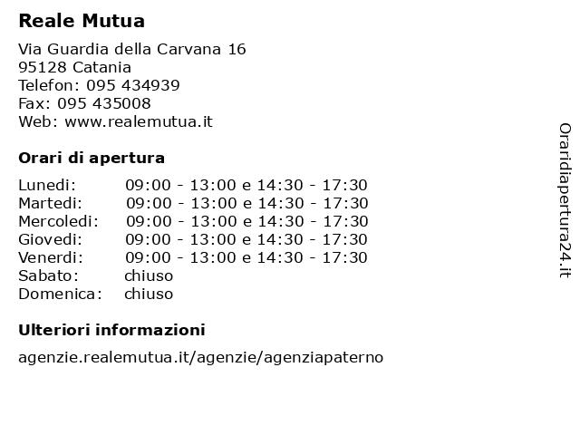 Reale Mutua a Catania: indirizzo e orari di apertura