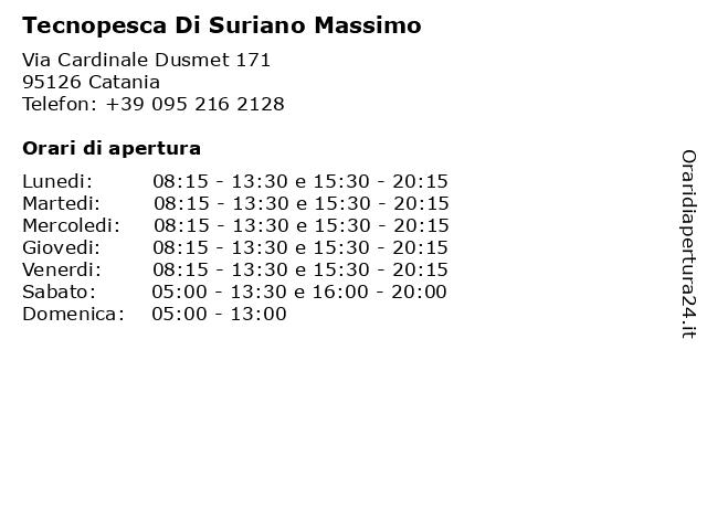 Tecnopesca Di Suriano Massimo a Catania: indirizzo e orari di apertura