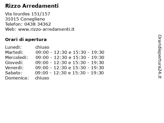 Rizzo Arredamenti a Conegliano: indirizzo e orari di apertura