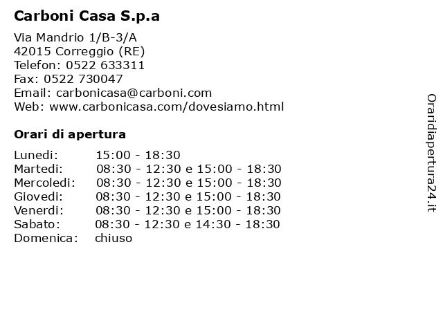 Carboni Correggio Arredo Bagno.ᐅ Orari Carboni Casa S P A Via Mandrio 1 B 3 A 42015 Correggio