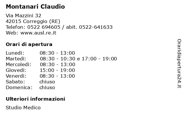 Montanari Claudio a Correggio (RE): indirizzo e orari di apertura