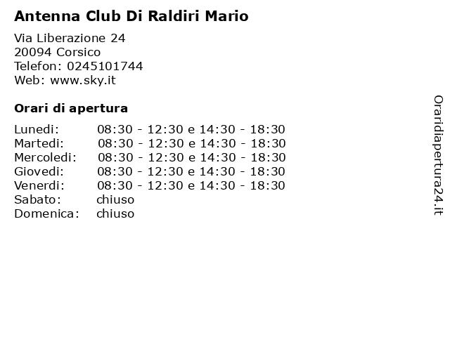 Antenna Club Di Raldiri Mario a Corsico: indirizzo e orari di apertura