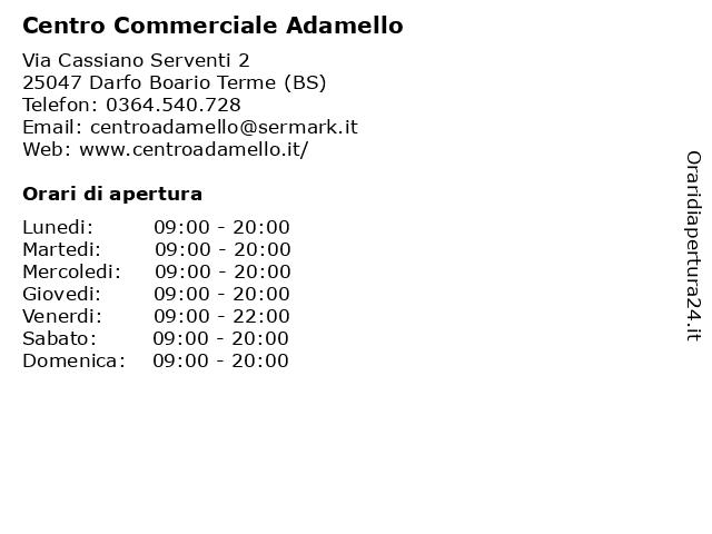 Centro Commerciale Adamello a Darfo Boario Terme (BS): indirizzo e orari di apertura