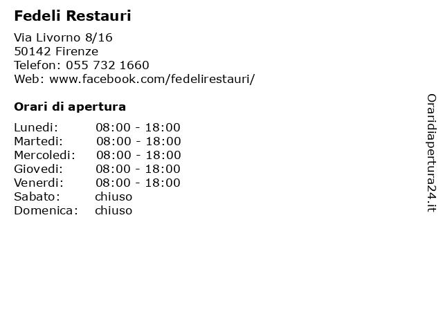 Fedeli Restauri a Firenze: indirizzo e orari di apertura