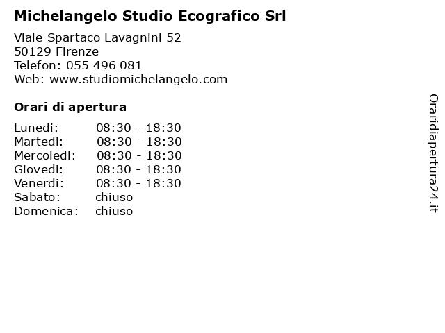Michelangelo Studio Ecografico Srl a Firenze: indirizzo e orari di apertura