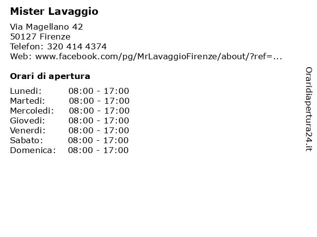 Mister Lavaggio a Firenze: indirizzo e orari di apertura