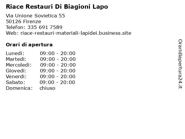 Riace Restauri Di Biagioni Lapo a Firenze: indirizzo e orari di apertura