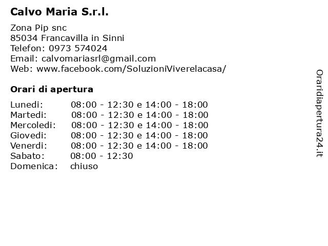 Calvo Maria S.r.l. a Francavilla in Sinni: indirizzo e orari di apertura