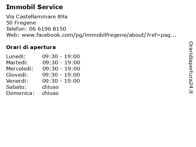 Immobil Service a Fregene: indirizzo e orari di apertura