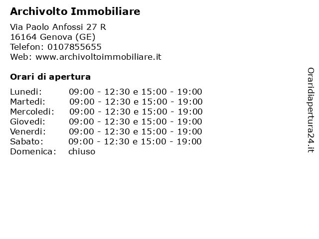 Archivolto Immobiliare a Genova (GE): indirizzo e orari di apertura