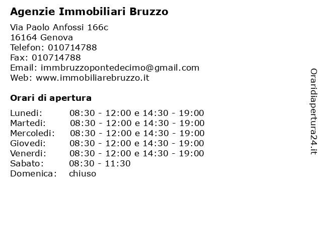 Agenzie Immobiliari Bruzzo a Genova: indirizzo e orari di apertura