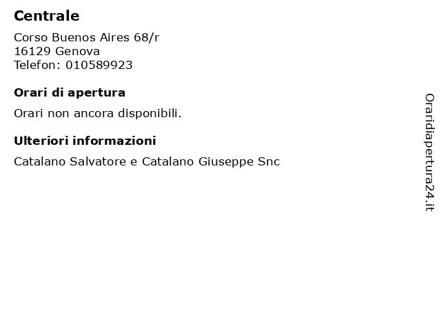 Centrale a Genova: indirizzo e orari di apertura