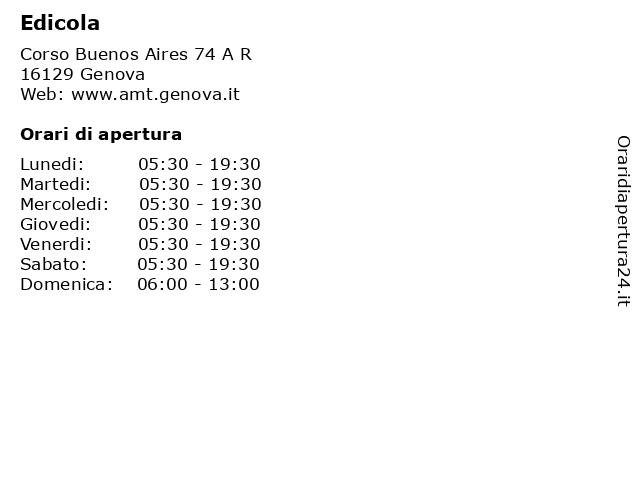 Edicola a Genova: indirizzo e orari di apertura