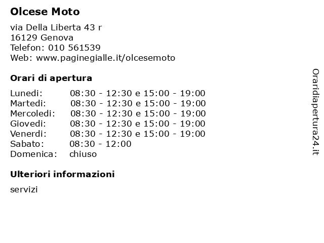 Olcese Moto a Genova: indirizzo e orari di apertura