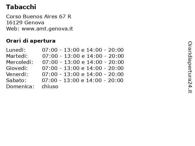 Tabacchi a Genova: indirizzo e orari di apertura