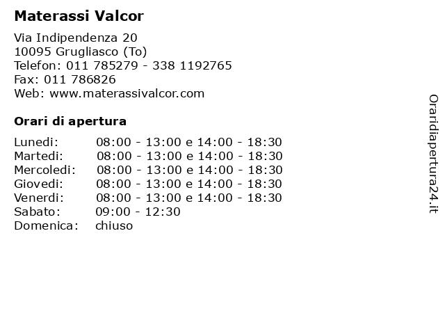 Valcor Materassi.ᐅ Orari Materassi Valcor Via Indipendenza 20 10095 Grugliasco To
