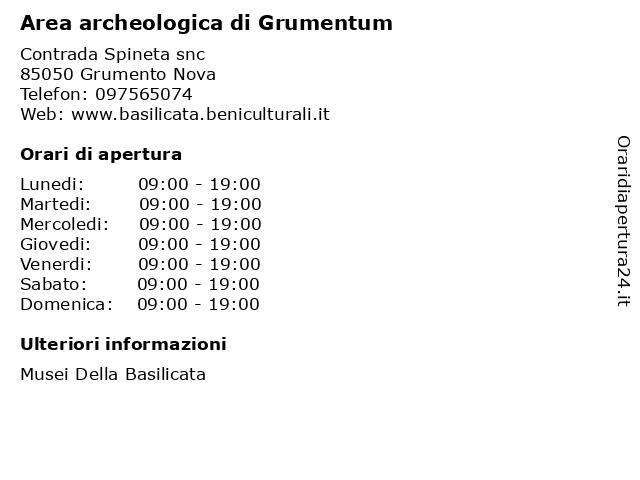 Area archeologica di Grumentum a Grumento Nova: indirizzo e orari di apertura