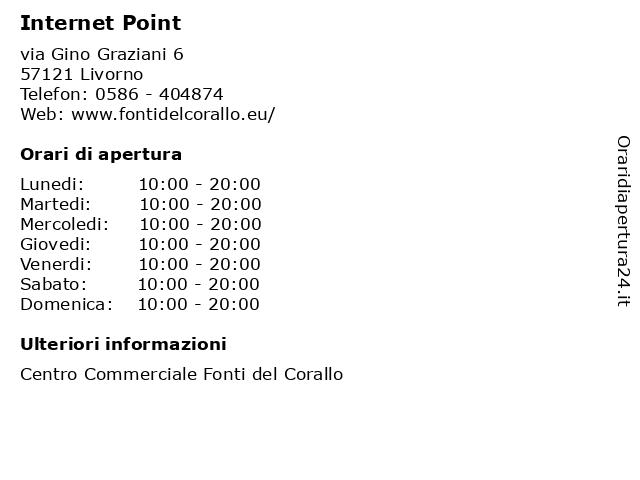Internet Point a Livorno: indirizzo e orari di apertura