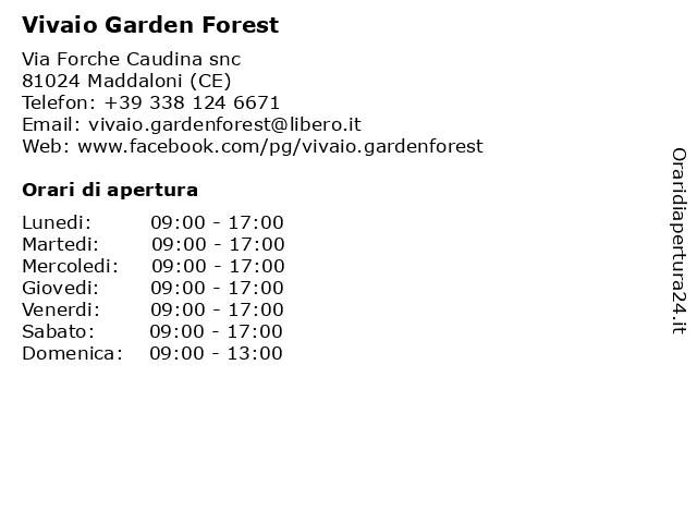 Vivaio Garden Forest a Maddaloni (CE): indirizzo e orari di apertura