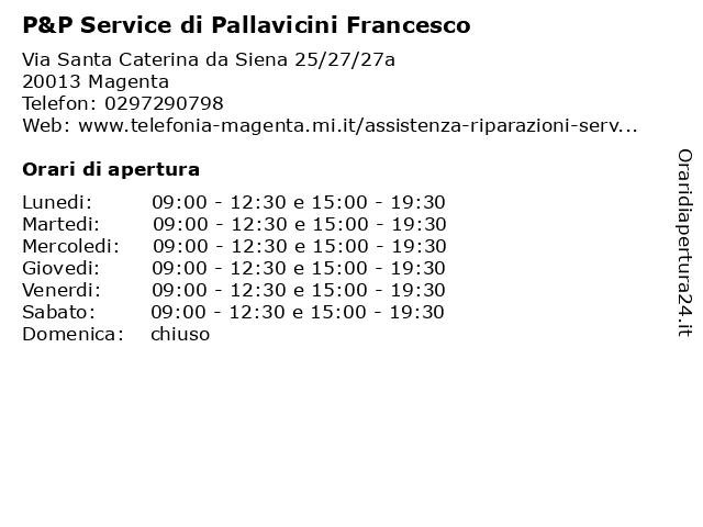 P&P Service di Pallavicini Francesco a Magenta: indirizzo e orari di apertura